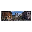 iCanvasArt Panoramic Spanish Steps Rome, Italy Photographic Print on Canvas