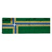 iCanvasArt Portland Flag, Wood Planks Panoramic Graphics Art on Canvas