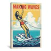 <strong>iCanvasArt</strong> 'Making Waves' by Anderson Design Group Vintage Advertisement on Canvas