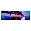 <strong>iCanvasArt</strong> Panoramic Macarthur Causeway Biscayne Bay Miami Florida Photographic Print on Canvas