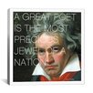 iCanvas Ludwig Van Beethoven Quote Canvas Wall Art