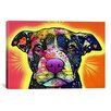 iCanvas 'Love a Bull' by Dean Russo Graphic Art on Canvas