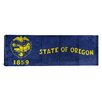 iCanvas Oregon Flag, Wood Planks Panoramic Graphic Art on Canvas