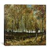 "<strong>iCanvasArt</strong> ""Poplars Near Nuenen"" Canvas Wall Art by Vincent van Gogh"