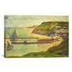 <strong>iCanvasArt</strong> 'Port-en-Bessin 1888' by Georges Seurat Painting Print on Canvas