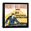iCanvas Pocket Billiards for Healthful Recreation Advertising Vintage Poster