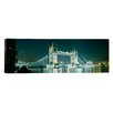 iCanvasArt Panoramic Tower Bridge London, England Photographic Print on Canvas