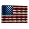 iCanvas One Hundred Dollar Bill, American Flag Graphic Art on Canvas