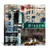 "iCanvas ""One Way Broadway"" by Luz Graphics Graphic Art on Canvas"