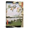 iCanvasArt Ando Hiroshige 'One Hundred Famous Views of Edo 35' by Utagawa Hiroshige l Graphic Art on canvas