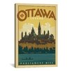 iCanvas 'Parliament Hill Ottawa, Canada' on Canvas by Anderson Design