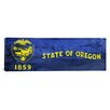 iCanvasArt Oregon Flag, Oregon Crater Lake Panoramic Graphic Art on Canvas