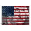 iCanvas One Dollar Bill, USA Flag, George Washington Graphic Art on Canvas