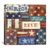 "iCanvas ""Patriotic Patchwork I"" Canvas Wall Art  from NBL Studio"