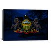 iCanvas Pennsylvania Flag, Grunge Old Bridge Graphic Art on Canvas