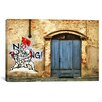 """iCanvas """"No Parking"""" by Luz Graphics Graphic Art on Canvas"""