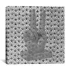 iCanvas Peace Hand Sign with Flag Stars Graphic Art on Canvas