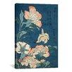iCanvasArt 'Peonies and Canary' by Katsushika Hokusai Painting Print on Canvas