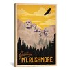 <strong>iCanvasArt</strong> 'Mt. Rushmore' by Anderson Design Group collection Vintage Advertisement on Canvas