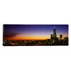 iCanvas Panoramic Night Chicago, Illinois Photographic Print on Canvas