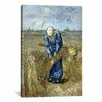 iCanvas 'Peasant Woman Binding Sheaves (after Millet)' by Vincent van Gogh Painting Print on Canvas