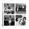 iCanvas Muhammad Ali Practicing on Punching Bag Photographic Print on Canvas
