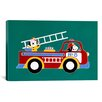<strong>iCanvasArt</strong> 'No 8 Fire Truck' by Shelly Rasche Painting Print on Canvas