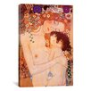 <strong>iCanvasArt</strong> 'Mother And Child' by Gustav Klimt Painting Print on Canvas