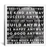 <strong>iCanvasArt</strong> Mother Teresa Quote Canvas Wall Art