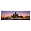 iCanvas Panoramic Night Skyline Detroit Michigan Photographic Print on Canvas