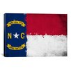 iCanvas North Carolina Flag, Grunge Painted Graphic Art on Canvas