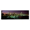 iCanvasArt Panoramic Night Skyline Chicago Illinois Photographic Print on Canvas