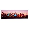 iCanvasArt Panoramic Night Ocean Drive, Miami Beach, Florida Photographic Print on Canvas