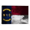 iCanvas North Carolina Flag, Eno River Grunge Graphic Art on Canvas