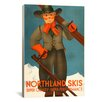 <strong>iCanvasArt</strong> Vintage Posters Northland Skis Graphic Art on Canvas