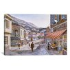 iCanvas 'Pink House on Navarino St' by Stanton Manolakas Painting Print on Canvas