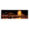 <strong>iCanvasArt</strong> Panoramic Night Navy Pier Chicago Illinois Photographic Print on Canvas