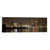 iCanvas Panoramic 'Nola Skyline Cityscape (Night)' Photographic Print on Canvas