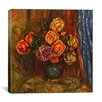"iCanvasArt ""Pitcher (Vase) of Flowers"" Canvas Wall Art by Pierre-Auguste Renoir"