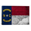 iCanvasArt North Carolina Flag, Grunge Vintage Map Graphic Art on Canvas
