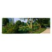 iCanvas Panoramic Bahai Temple Gardens, Bahai House of Worship, Chicago Illinois Photographic Print on Canvas
