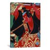 iCanvas Japanese Samurai Painted Woodblock Painting Print on Canvas