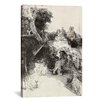 iCanvas 'Saint Jerome Reading in an Italian Landscape' by Rembrandt Painting Print on Canvas