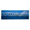 <strong>iCanvasArt</strong> Panoramic Farr 40's race during Key West Race Week, Key West, Florida Photographic Print on Canvas
