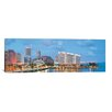 iCanvas Panoramic 'Miami Skyline Cityscape Evening' Photographic Print on Canvas