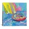 "iCanvasArt ""Sailboat"" Canvas Wall Art by Richard Wallich"
