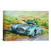 iCanvas Cars and Motorcycles Mercedes 300 Sl Racing Painting Print on Canvas