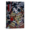 iCanvasArt Japanese Samurai with Katana Woodblock Painting Print on Canvas