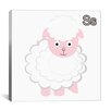 <strong>iCanvasArt</strong> Kids Children S is for Sheep Canvas Wall Art