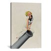 iCanvasArt 'Sailor Pinup Girl on Cannon' by Enoch Bolles Vintage Advertisement on Canvas